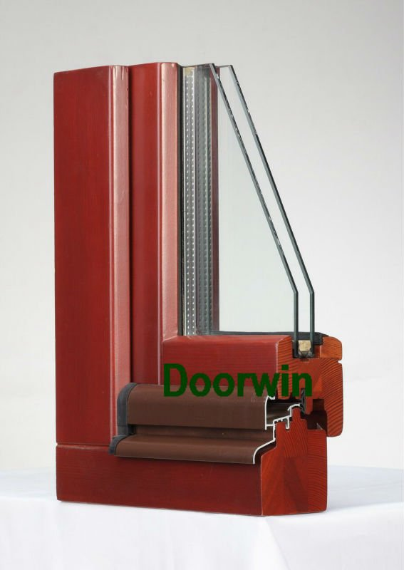 Competitive price and latest grille design casement wood window