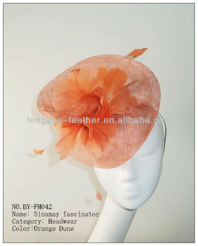 BY-FM042 flower feather fascinator
