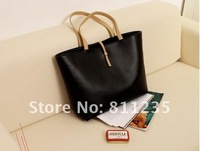 Сумка через плечо 2012 hot sale Europen simple style black handbags women daily use shoulder bag /BG-102 2 colors 1pcs and