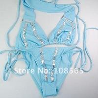 Женский купальник New Lady Women's Blue Sexy Beach Bikini Swimwear Dress 2pcs/lot
