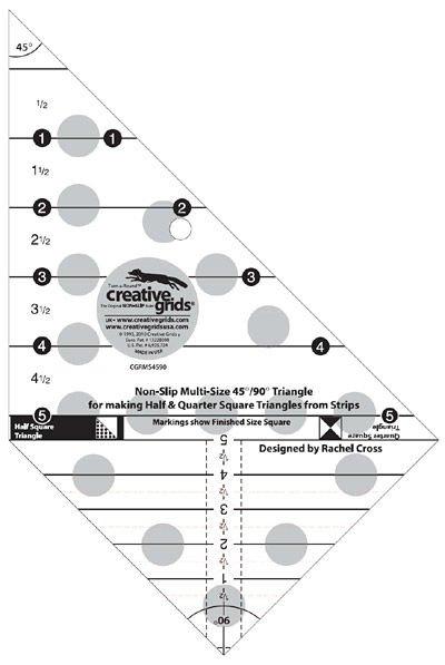 Multi-Size 45 + 90 Degree Triangle Ruler