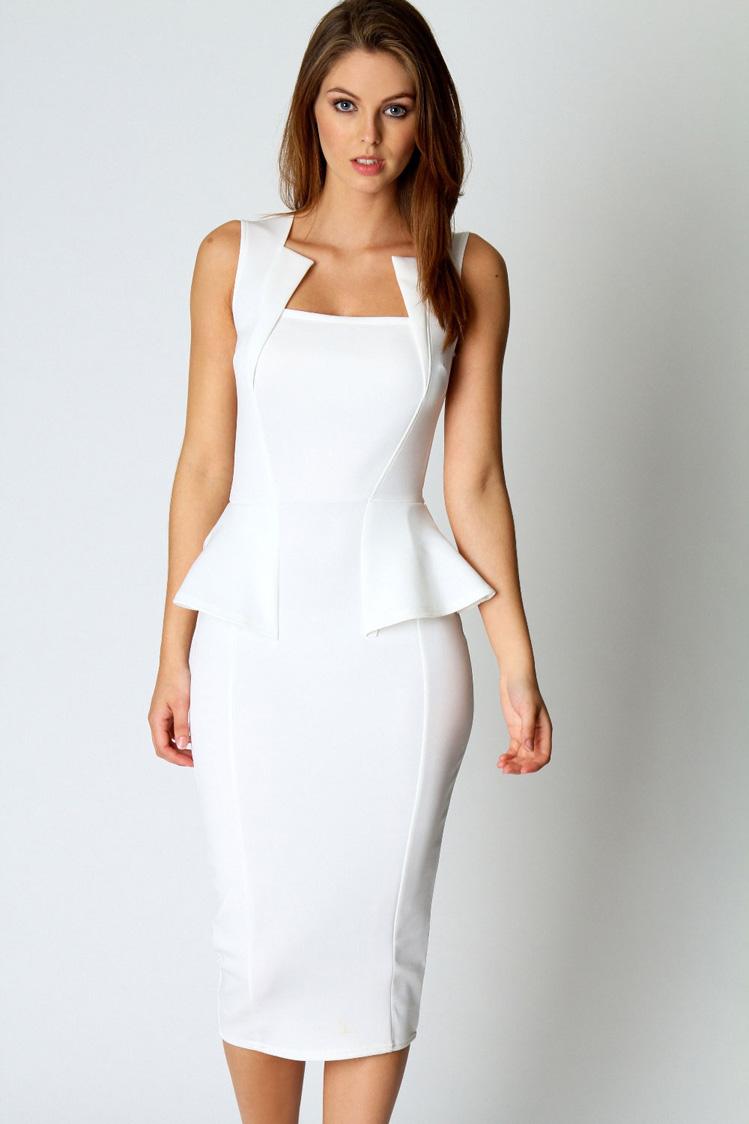 Белые классические платья