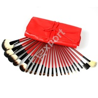 Кисти для макияжа 22 Pcs Makeup Brushes Set with Professional Red Make Up Tools Bag Y05
