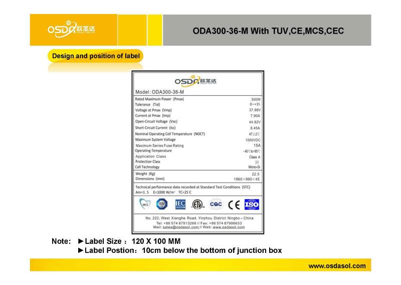 280w /290w /300w solar panel low price