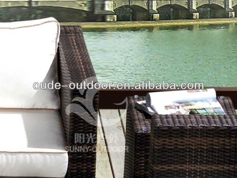 Aluminum Tube Rattan Garden Sofa rattan modern home furniture