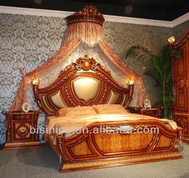 estilo italiano muebles de dormitorio real formal clsico tapicera cama con soportes de la noche