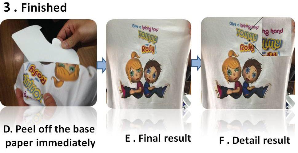 Tamanho a4 de papel de transfer ncia de luz t shirt para - Papel de transferencia textil ...