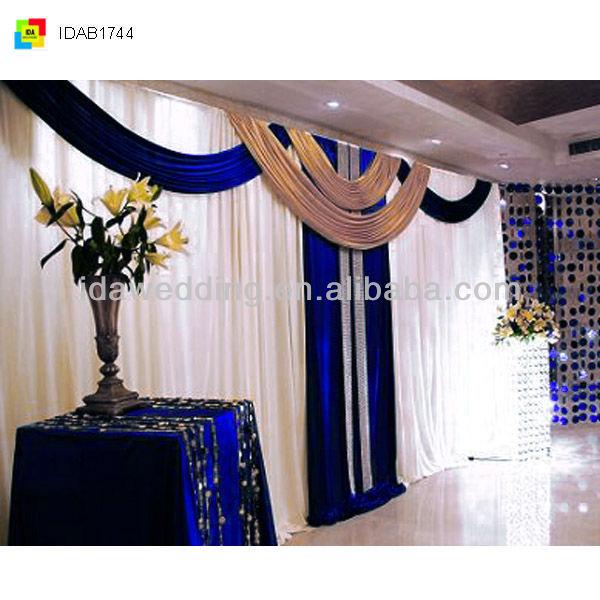 Ida royal tiffany blue wedding drapery decorations buy for Backdrop decoration for church