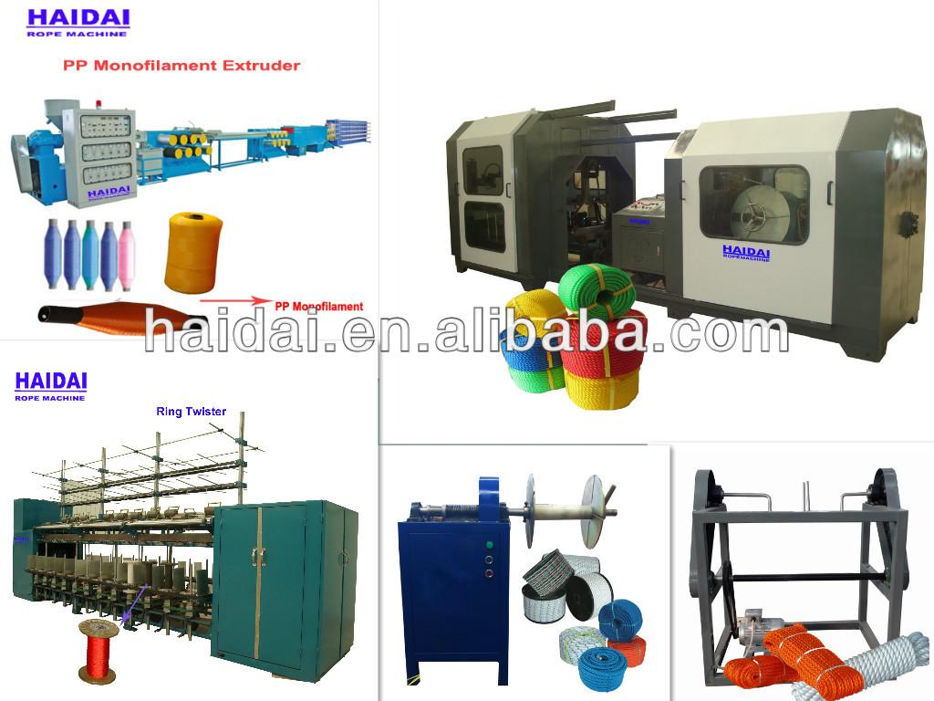 Super quality pp/plastic/nylon/cotton rope machine