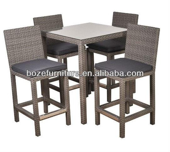 Wickwe tabouret bistro meubles jardin bar table haute et for Chaise de bar en osier