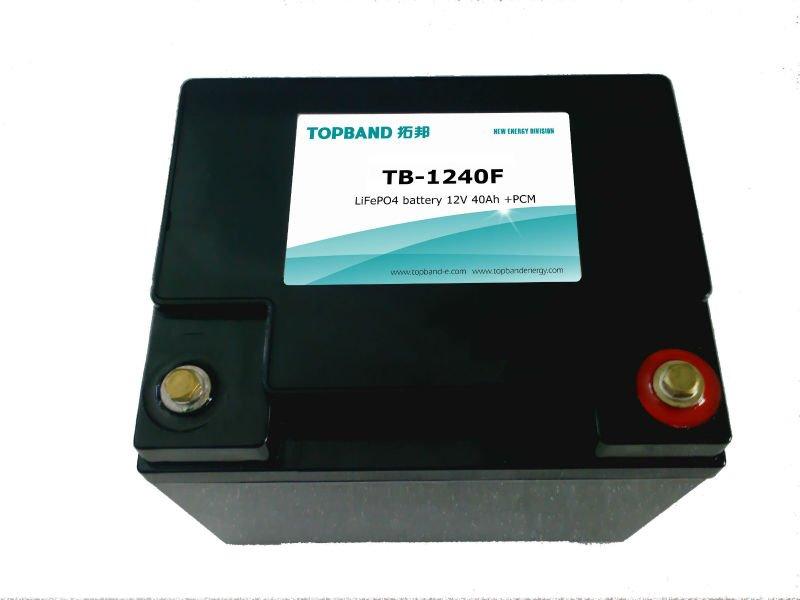 Topband 12V 40AH lithium battery