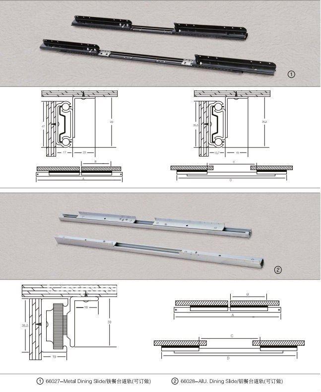 High Quality Furniture Metal Drawer Slide For Furniture