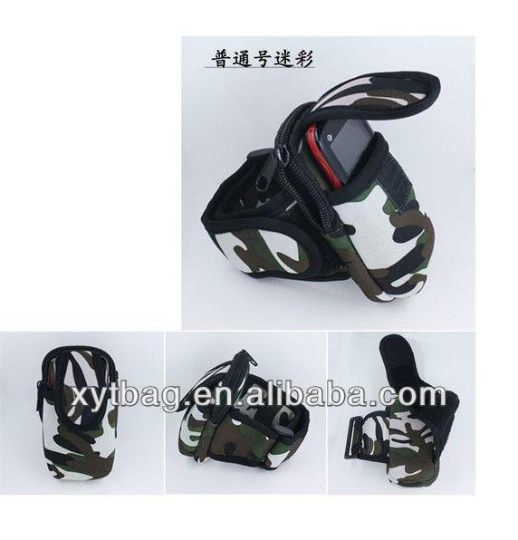 PU leather custom wrist mobile phone bag