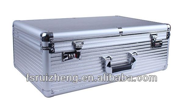Professional Silver Aluminum Empty Tool Case, RZ-ATB079