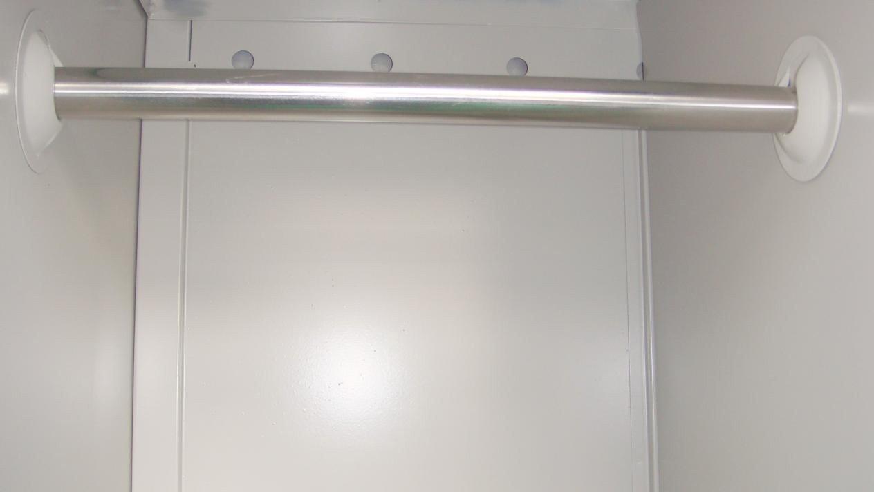 metal cupboard with inner adjustable shelves