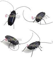 Детская игрушка с питанием от солнечной батареи 1Pcs/lot Solar Power Energy Black Cockroach Bug Toy Children #3710