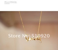 "Колье-ошейник fashion chic ""LOVE"" word necklace fashion necklace jewelry, RJ0019WA"
