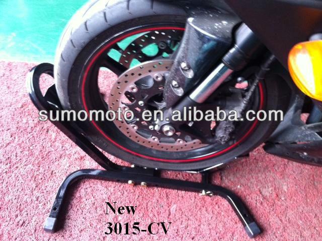 "Fitting All 17""-21"" Wheels Steel Motorcycle Wheel Chock SMI3015-CV"