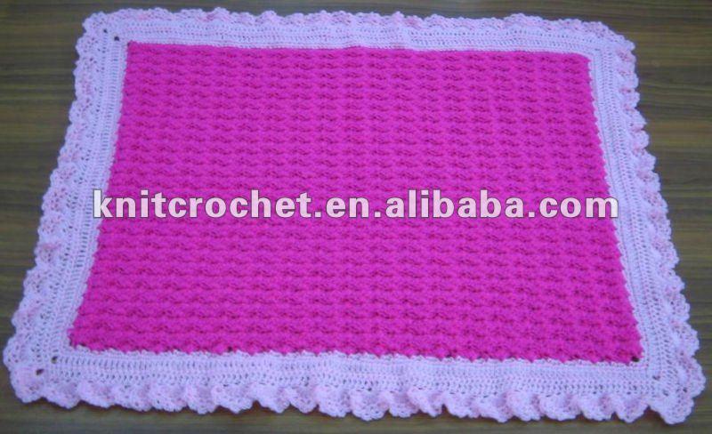Manta de crochet de beb imagui - Mantas de punto hechas a mano ...