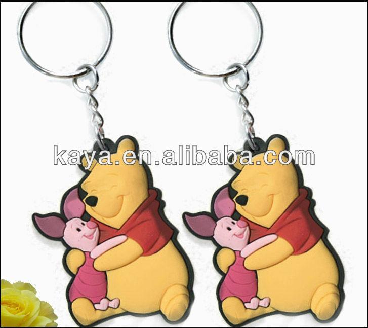 High quality promotional 2D/3D plastic custom key chain