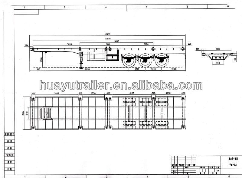 40ft flatbed semi trailer