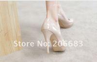 Туфли на высоком каблуке 2012 Silver pumps high heel platform peeptoe shoes for women/fashion summer high heels wedding pumps Drop Shipping