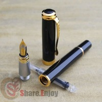 Перьевая ручка JINHAO 500 EXECUTIVE BLACK AND GOLDEN MEDIUM NIB FOUNTAIN PEN