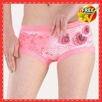 Женские трусы-шортики High quality*Beauty flower women's sexy underwear*95%Microfiber 5%Spandex briefs