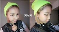 Женская шапка HOT HOT Men and women of fluorescent color line cap hat knitted cap GD hip-hop MaoXianMao set of head cap