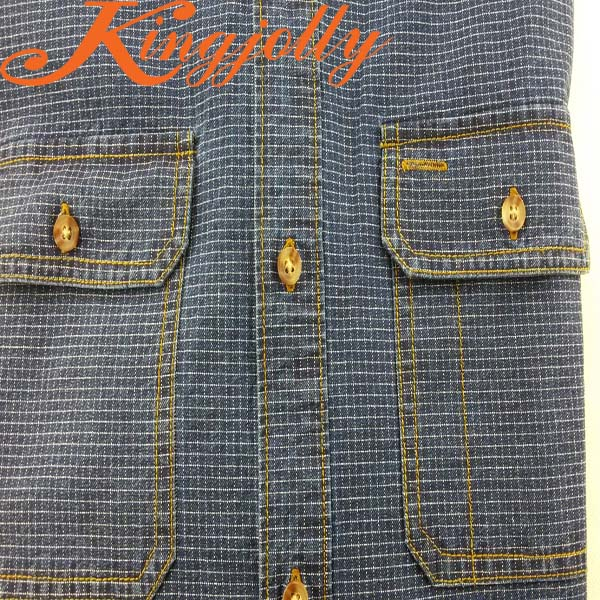 100%cotton indigo denim fabric 5.7oz light weight made in china