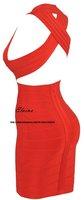 Женское платье VANESSA' NUDE V BACKLESS BANDAGE DRESS red dress HL389A