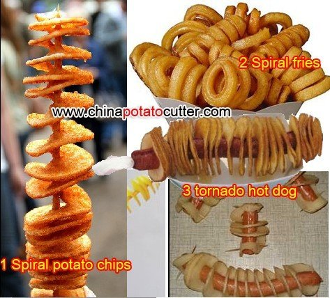 528 Curly Spiral Potato Chips at Home singapore 110v,220-240v Tornado Fries machine fries on a stick cutter (with counter CE)