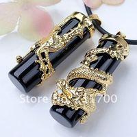 Ювелирная подвеска 1 Pair Black Agate Dragon Phoenix Pendant For Necklace