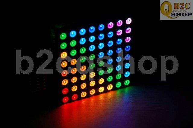 8X8 Magic colorful RGB LED Dot Matrix Colorduino Display kit