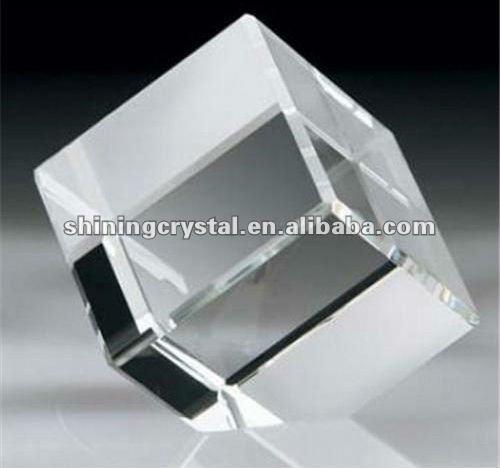 De alta calidad de cristal k9 para grabado láser en blanco bloque de