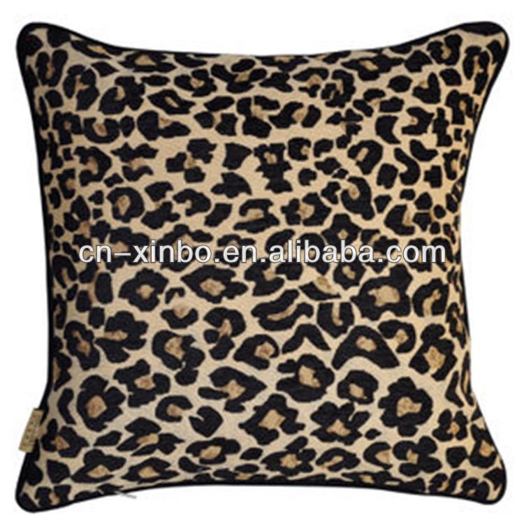 European leopard print cushion