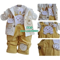 Комплект одежды для девочек New 2013 baby girls clothing set, lovely baby dog patterns suit for autumn.toddler 3 pcs
