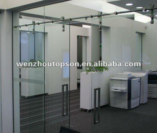 oficina de particin puerta corredera puerta interior de cristal