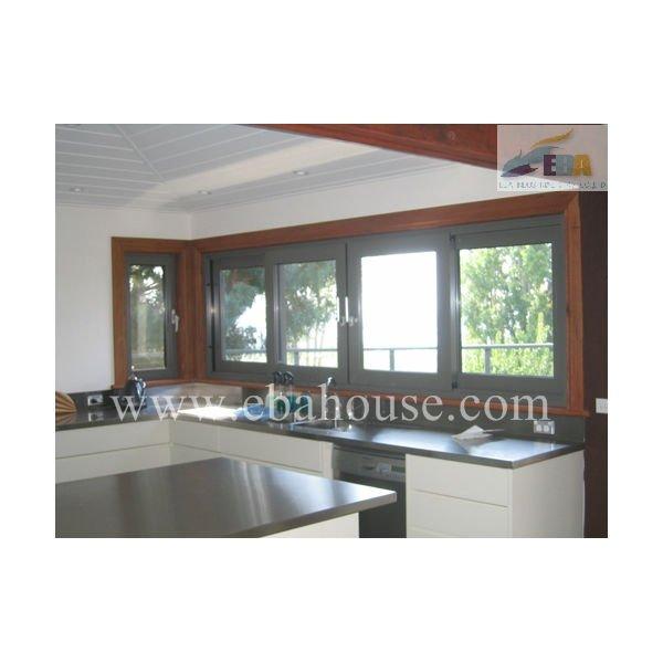 Marco de aluminio con doble acristalamiento ventana deslizante ...