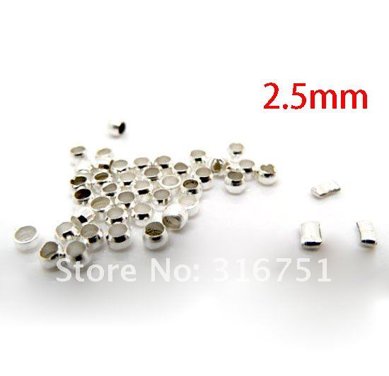 Free Shipping 2000Pcs Silver Plated Crimp Bead Covers Dia. 2.5mm/fashion accessory jewelry DIY(W00554)
