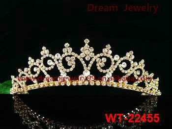 fashion cheap pageant gold tiaras