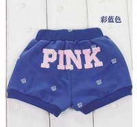 Шорты для девочек Kids Baby Shorts for Boys & Girls-Candy Color with Letter Pink