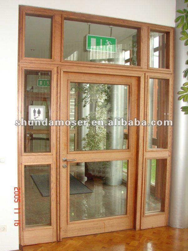 Moser madera vidrio de la puerta interior puertas - Puertas de madera con cristal ...
