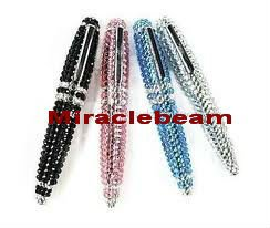 rhinestone jewel crystal bling pen with reflective rhinestone jewel crystals on ballpoint pen, gift pen, promotional pen