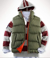 Free shipping, new arrival,best quality men's down vest//down coat/men'sdown jacket filled by feather!!