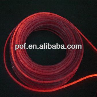 Flexible Outdoor side glow polymer fiber optic , Side Light Optic Fibre