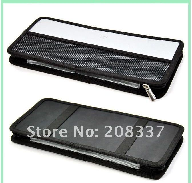 2012 Hot Sale Universal Design auto Car Sun Visor 12 CD Storage holder Organizer Bag box case 1PC/LOT