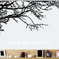 съемный кровать номер искусства росписи Винил наклейка пропуск 90 * 60 см декор стен потрясающие ветвь дерева