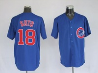 Мужская бейсбольная футболка Chicago Cubs baseball jerseys, #18 SOTO jerseys