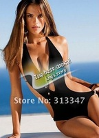 2012 New Brief Sexy mini black bikini beachwear one-pieces women swimwear ladies swimsuit Free shipping XY392
